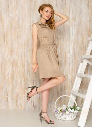 Платье-рубашка с поясом жилетка сарафан на заклепках пуговицах с пуговицами6 фото