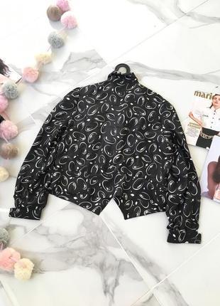 Стильная двубортная блуза по крою жакета с принтом абстракцией в стиле 60х годов 1+1=3 на всё 🎁