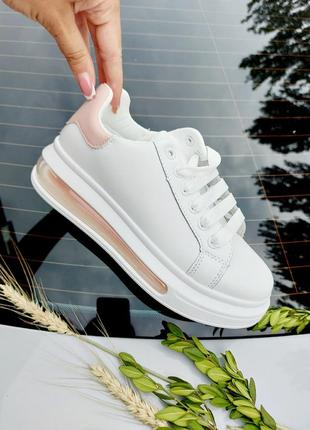Базовые кеды 🌿 кроссовки кеди мокасины базовые дышащие на лето осень3 фото