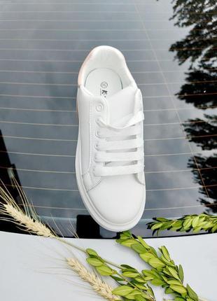 Базовые кеды 🌿 кроссовки кеди мокасины базовые дышащие на лето осень4 фото