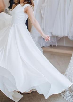 Свадебное платье королевский атлас / классическое платье / элегантное свадебное платье