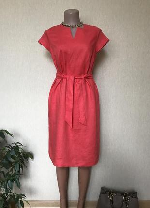 Новое льняное платье сарафан 100%  лен