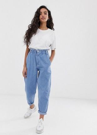 Zara baggy супер стильные джинсы слоучи на пуговицах