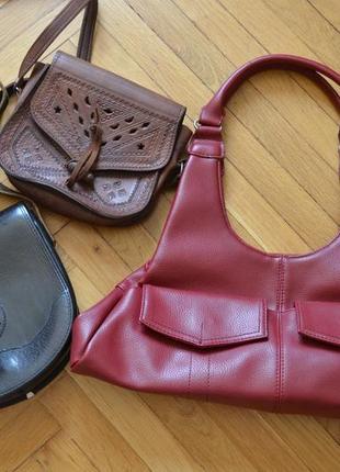 Винтажные кожаные сумки по 100 грн