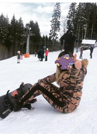 Костюм камуфляж куртка штаны брюки спортивный тёплый лыжный