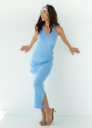 Сарафан платье облегающее по фигуре макси