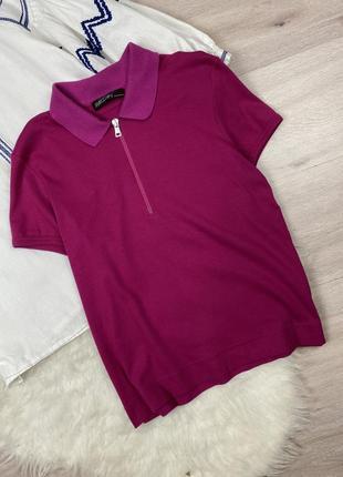 Трикотажное фирменное поло футболка marc cain