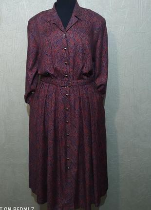 Eastex. платье/халат с длинными рукавами, ретро винтаж.