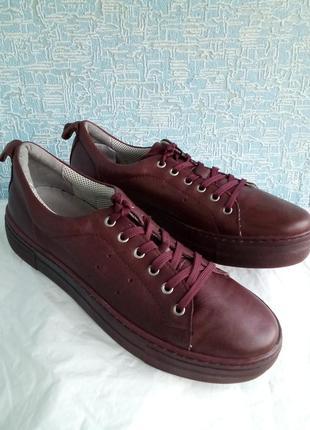 Кожаные кеды filipe shoes португалия оригинал цвет марсала