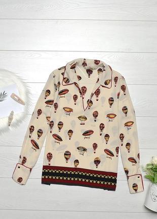Стильна блуза в повітряні кулі zara.