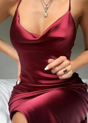 Платье шелк1 фото