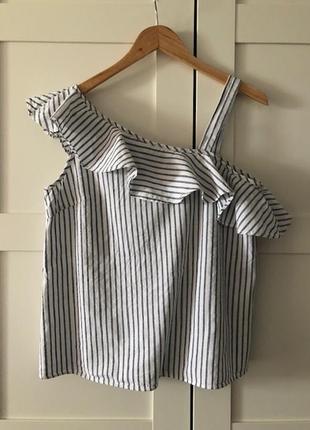 Женственная летняя блуза из льна / англия