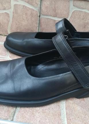 Туфли с квадратным носком,туфли ecco кожа,балетки,туфлі ортопедичні