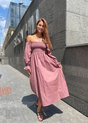 Платье сарафан лен вискоза