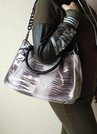 Женская сумка мешок ,сумка с лазерной обработкой