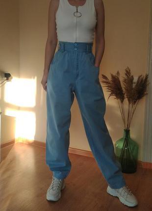 Мега крутые объёмные джинсы с завышенной талией.