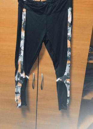 Черные стрейчевые женские лосины большой размер батал