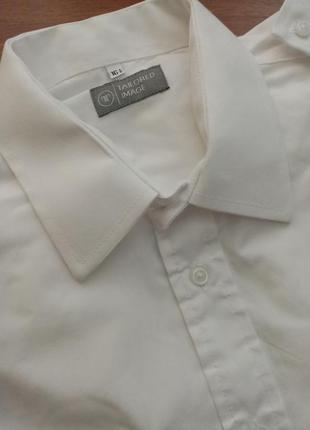 Летняя белая мужская рубашка чоловіча літня біла сорочка