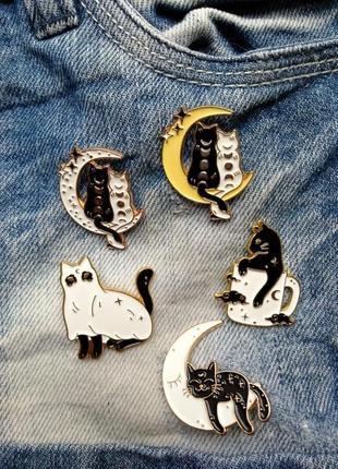 Набор значков значок кот значок котик пин кот значок кіт значок котик 1 шт 60-65грн
