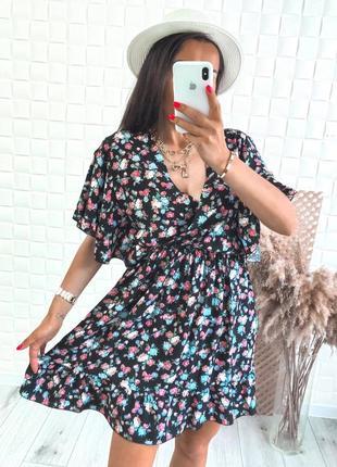 Свободное штапельное платье
