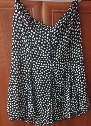 Модная юбка gerry weber в горох, миди юбка плиссе, шифоновая
