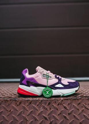 """🔥🔥🔥 женские кроссовки adidas falcon w """"pink/purple/white»"""