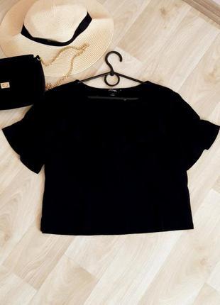 Топ футболка майка летняя короткий рукав валаны блузка летняя zara h&m bershka primark asos