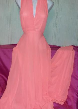 Неоновое платье длинное