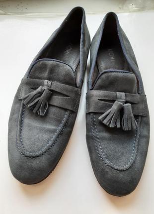 Туфли кожаные лоферы
