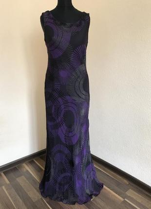 Элегантное шелковое платье в пол