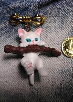 Брошка котик, значок кот.