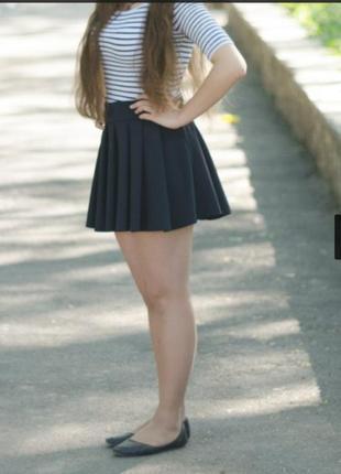 Мини аля школьная юбка из хорошей плотной ткани