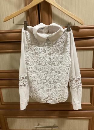 Гіпюрова блуза