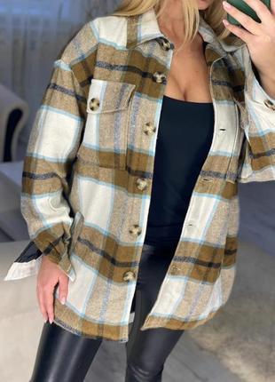 Рубашка -куртка теплая