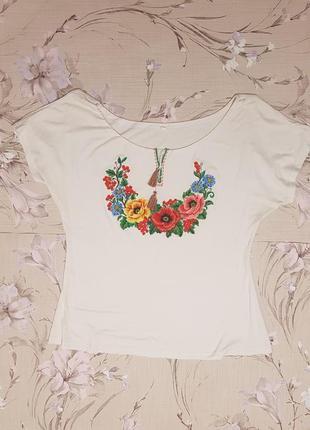 Вышиванка футболка белая