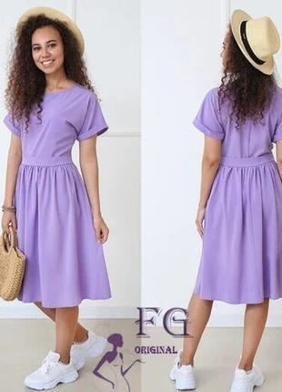 Жіноче плаття міді з короткими рукавами валенсія | норма і батал