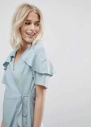 Мятное платье на запах/ мятне плаття на запах