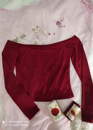 Блуза/ топ цвета марсала