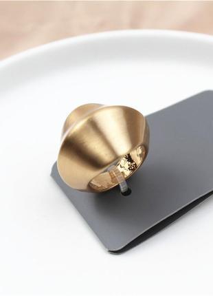 Matte gold кольцо широкое матовое сток