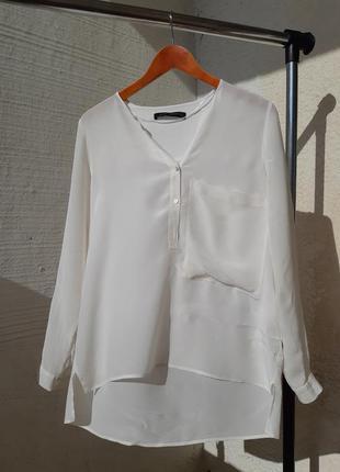 Шелковая блузка от zara блуза mulberry silke