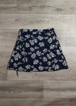 Синяя юбка в цветы на запах