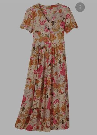 Винтажное цветочное платье халат