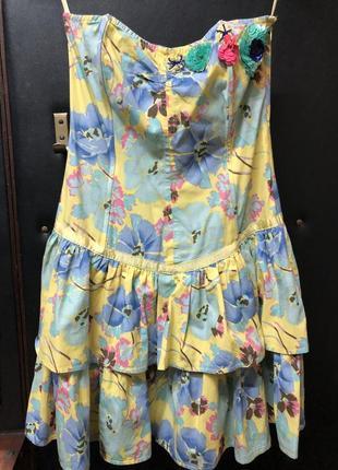 Платье-бюстье «лето»