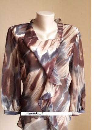 Люкс шикарная блуза 100 шелк artigiano британия