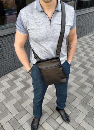 Мужская сумка, барсетка, мессенджер bucket