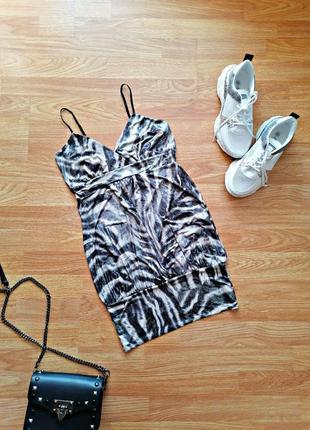 Женская вечерняя летняя брендовая туника - блуза - анималистичный принт new look - размер 44