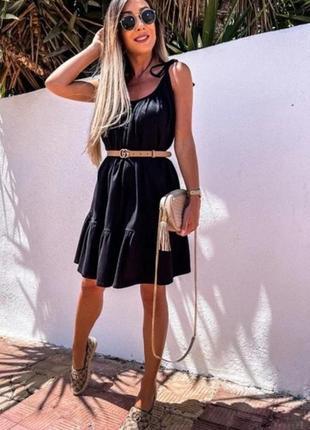 Женское летнее платье сарафан разлетайка