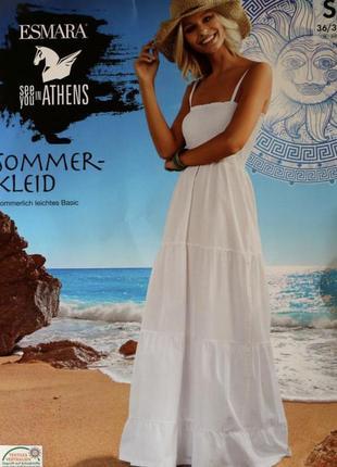 Сарафан, белое платье esmara