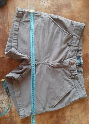 Серые шорты коттон cotton хлопок короткие на молнии пуговица джинс джинсовые шорты деним повседневные средняя посадка