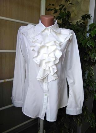 Блуза рубашка жабо
